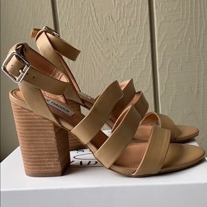 Brand new Steve Madden Nude Strappy Sandals 8